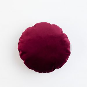 Cup Of Tea Velvet Circle Pillow Red
