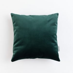 Cup Of Tea Velvet Square Pillow Green
