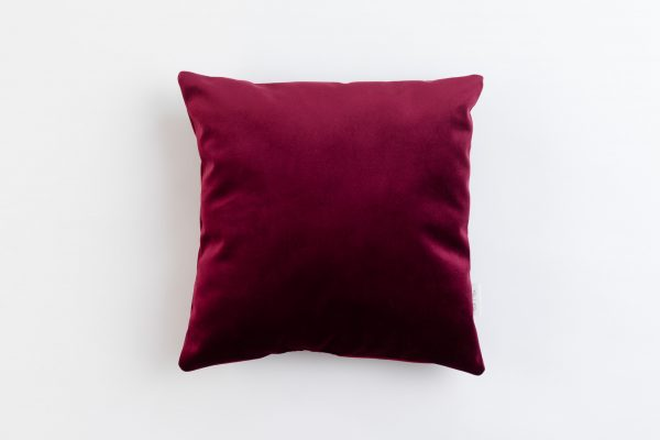 Cup Of Tea Velvet Square Pillow Red