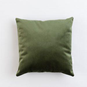 Cup Of Tea Velvet Square Pillow Olive Green