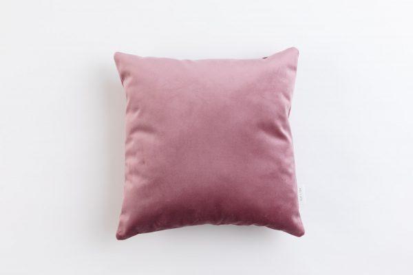 Cup Of Tea Velvet Square Pillow Rose