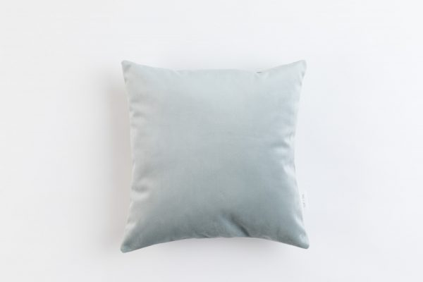 Cup Of Tea Velvet Square Pillow Blue