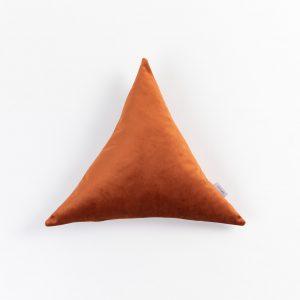 Trikotna žametna blazina Cup Of Tea oranžna