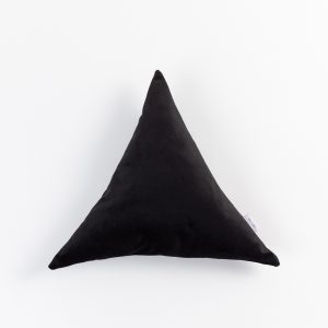 Triangle Velvet Pillow Cushion Cup Of Tea