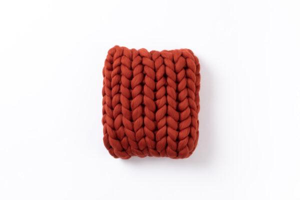 Terra Cotta Burnt Orange Merino Wool Pillow Cup Of Tea