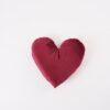 CUP OF TEA Heart Velvet Pillow RED